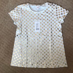 Seed heritage NWT new girls tee gold white 9-10
